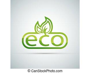 Eco logo vector.