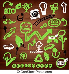 eco, logos, tekens & borden