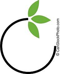 eco, logotipo, amichevole, affari