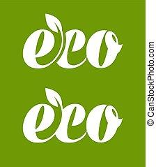 eco, logotipo, hoja