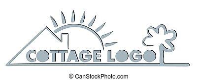 eco, logotipo, house., amistoso