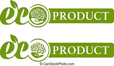 eco, logotipo, prodotto