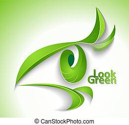 "eco, ""look, アイコン, green"""