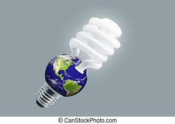 eco-, luce, bulbo