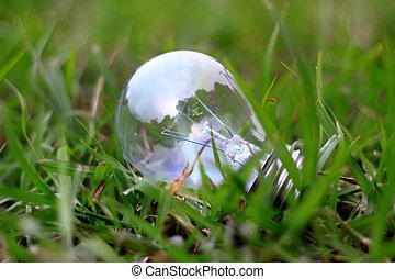 eco, lumière, blub, énergie, concept