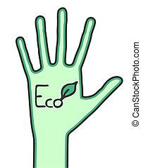 eco, mão