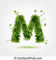 eco, m, verde, letra, desenho, seu