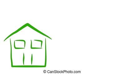 eco, maison, environnement