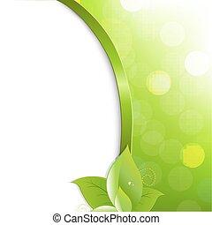 eco, manifesto, foglie, verde