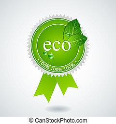 Vector eco medal