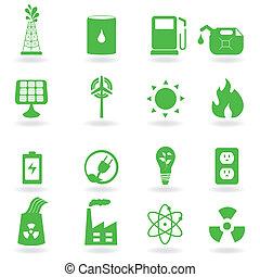 eco, meio ambiente, ícones