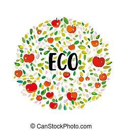 eco, mele, leaves., manifesto