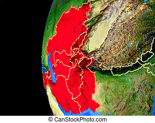 ECO member states from space on realistic model of planet ...