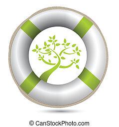 eco, milieu, sos, lifesaver
