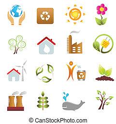 eco, miljø, iconerne