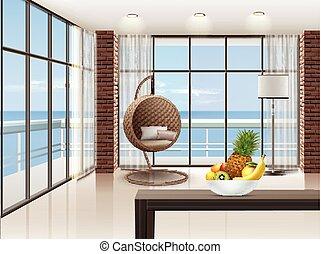 Eco-minimalist living room
