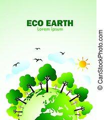 eco, mull, grön