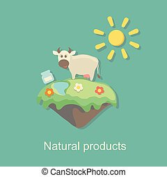 eco natural product design vector illustration
