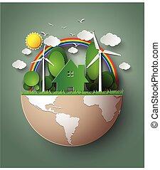 eco, nezkušený, earth.