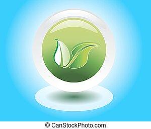 eco or bio friendly company logo