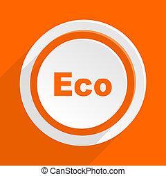 eco orange flat design modern icon for web and mobile app