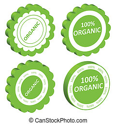 Eco organic food vector stamp or label ecology background...