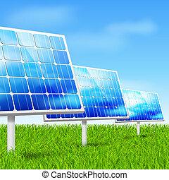eco, painéis, energia solar