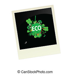 eco picture vector illustration