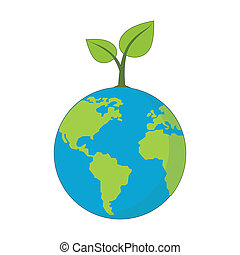 Eco Planet concept symbol.