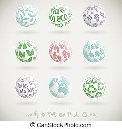 Eco planet icons