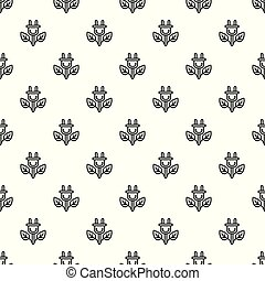 Eco plant plug pattern seamless vector