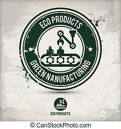 eco, postzegel, alternatief, product