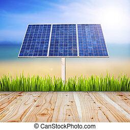 Eco power,Power plant using renewable solar energy