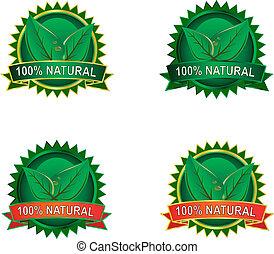 eco, product, etiketten, natuurlijke