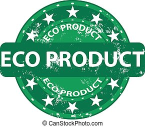 Eco product grunge rubber stamp