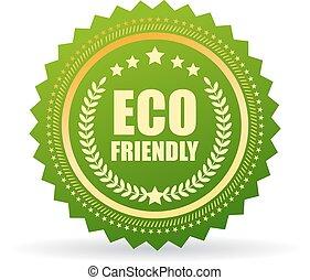 eco, producto, amistoso, certificado