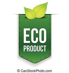 eco, producto, hoja, cinta