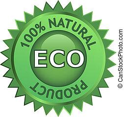 eco, produit, naturel, étiquette