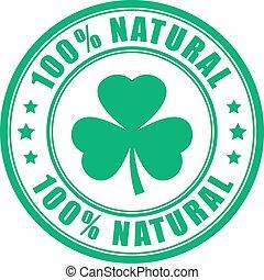 eco, produto, vetorial, natural, etiqueta