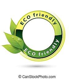 eco, przyjacielski, logo