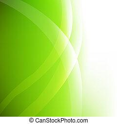 eco, résumé, arrière-plan vert