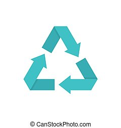 Eco recycled symbol. Vector icon on a white background