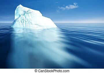 eco, resumen, fondos, iceberg., diseño, su