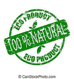 eco, rubber, product, natuurlijke , postzegel