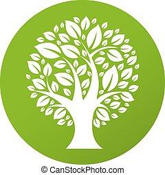 eco, símbolo, árvore