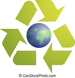 eco, símbolo, reciclaje