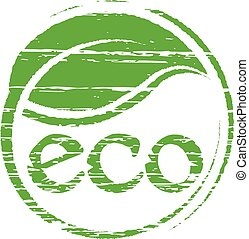 Eco seal logo. Vector graphic design