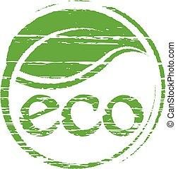Eco seal logo. Vector graphic design