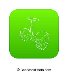 Eco segway icon green