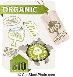 eco, set, communie, organisch, bio